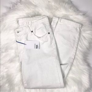 dd206eed0c6 PAIGE Jeans - Paige Kylie Crop Roll Up Optic White Jeans Skinny